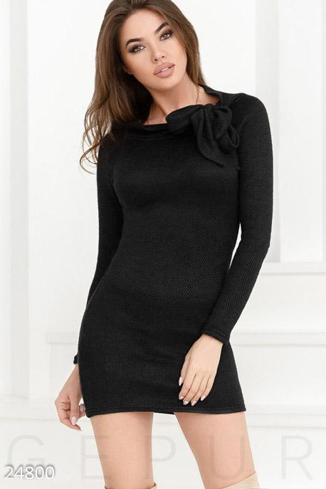 Теплое платье завязки