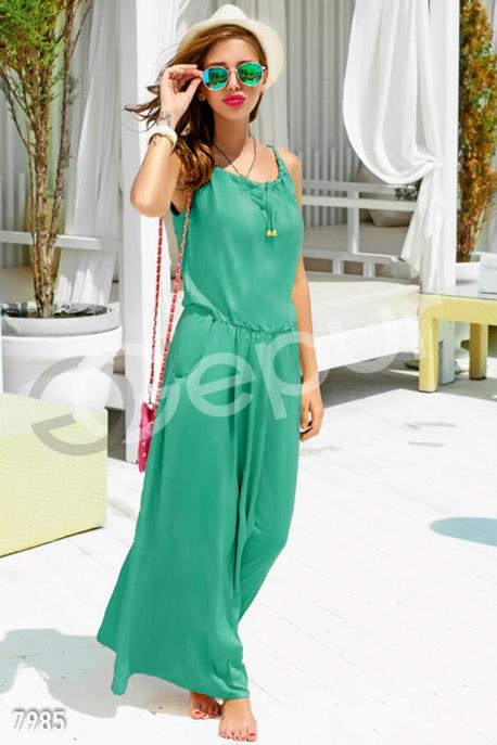 Купить Платья / Сарафаны, Ментоловое платье-макси с кармашками, Платье - 7985, GEPUR, ментол