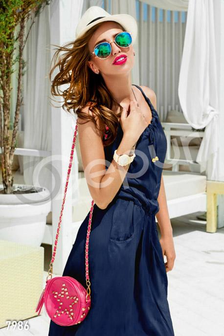 Платья / Сарафаны, Летнее платье-макси с кармашками, Платье - 7986, GEPUR, темно-синий  - купить со скидкой