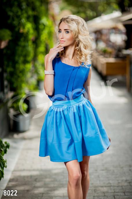 Купить Блузы, рубашки, Легкая шифоновая блузка, Блузка-8022, GEPUR, синий
