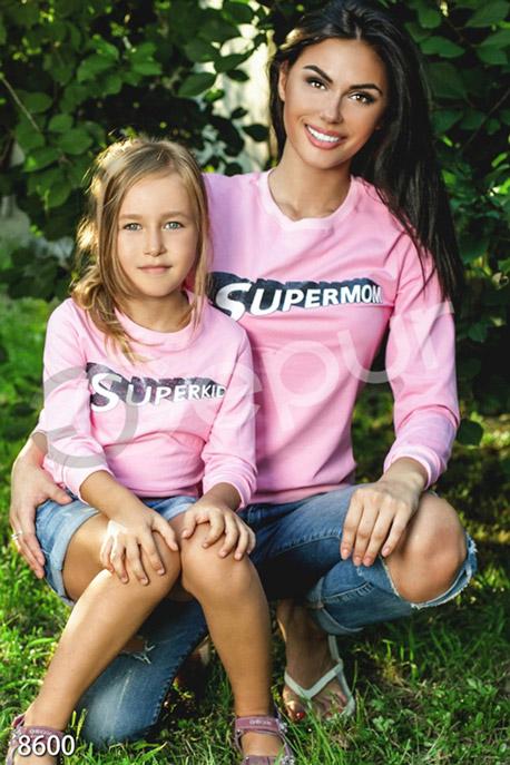 Купить Детская одежда, Кофта для девочки с накатом Superkid, Кофта(детская)-8600, GEPUR, розовый