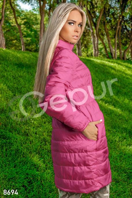 Расклешенное стеганое пальто GEPUR