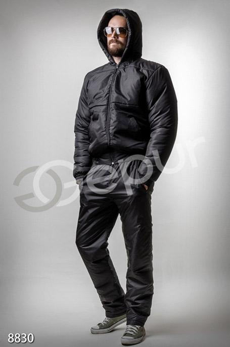 Купить Мужская одежда, Мужской утепленный костюм черного цвета, Костюм-8830, GEPUR, черный