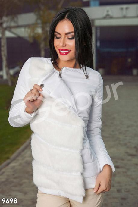 Купить Верхняя одежда / На синтепоне, Куртка с мехом белого цвета, Куртка-9698, GEPUR, белый