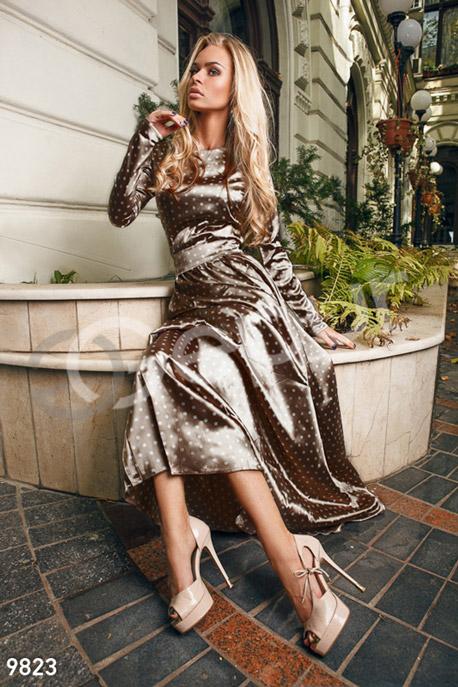 Изящное атласное платье GEPUR