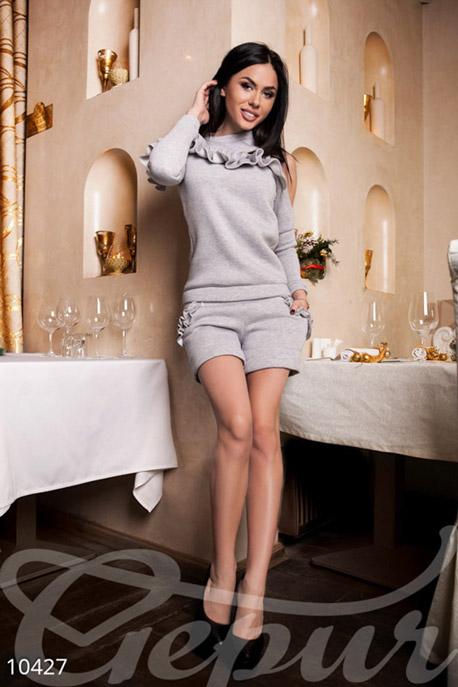Купить Свитера / Классические, Оригинальная серая кофта, Кофта-10427, GEPUR, светло-серый меланж
