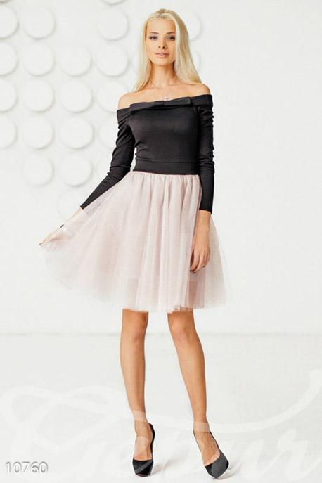 Купить Платья / Алёна Шишкова, Коктейльное платье ретро, Платье-10760, GEPUR, Черный, юбка и подклад - фрез