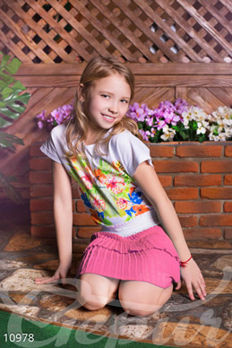 Children's pink skirt photo 1