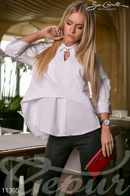 Купить Блузы, рубашки, Блузка-топ белая, Блузка-11305, GEPUR, Белый