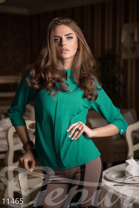 Купить Блузы, рубашки, Яркая блуза-рубашка, Блузка-11465, GEPUR, ярко-зеленый
