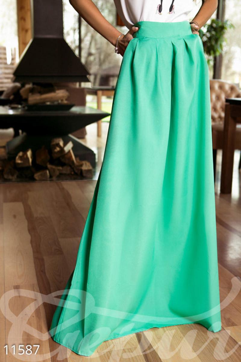 Длинная юбка из габардина сшить 4