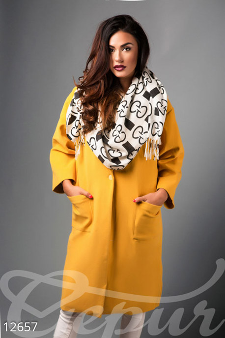 Яркое пальто oversize GEPUR