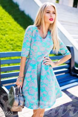 Коктельное мятное платье фото 1