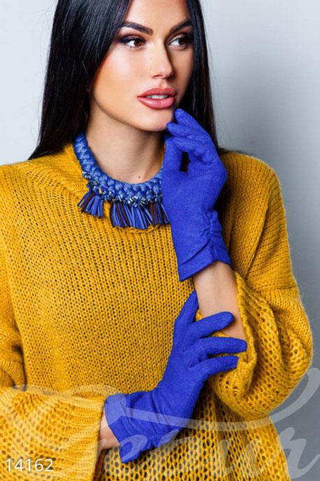 Купить Перчатки, шарфы, шапки / Перчатки, Перчатки из ангорки, Перчатки-14162, GEPUR, синий электрик