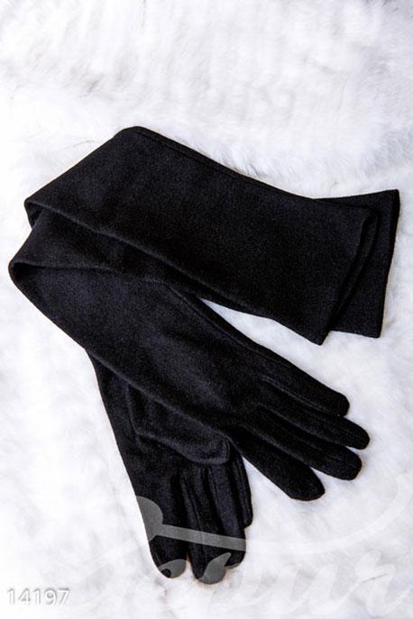 Купить Перчатки, шарфы, шапки / Перчатки, Длинные классические перчатки, Перчатки-14197, GEPUR, черный