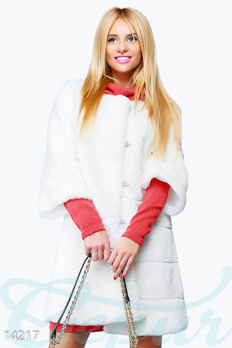 Купить Верхняя одежда / Шубы, Стильная женская шуба, Шуба-14217, GEPUR, молочный