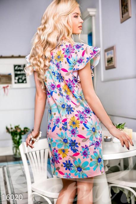 Джинсовое мини-платье
