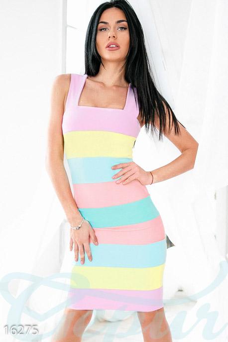 Купить Платья / Миди, Летнее разноцветное платье, Платье-16275, GEPUR, разноцветный