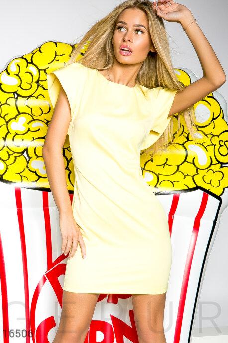 Купить Платья / Мини, Солнечное летнее платье, Платье-16506, GEPUR, ярко-желтый