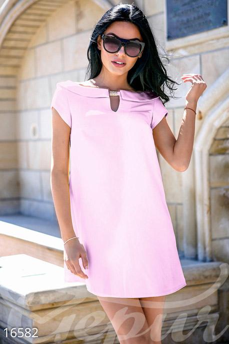 Купить Платья / Мини, Летнее мини платье, Платье-16582, GEPUR, пудра