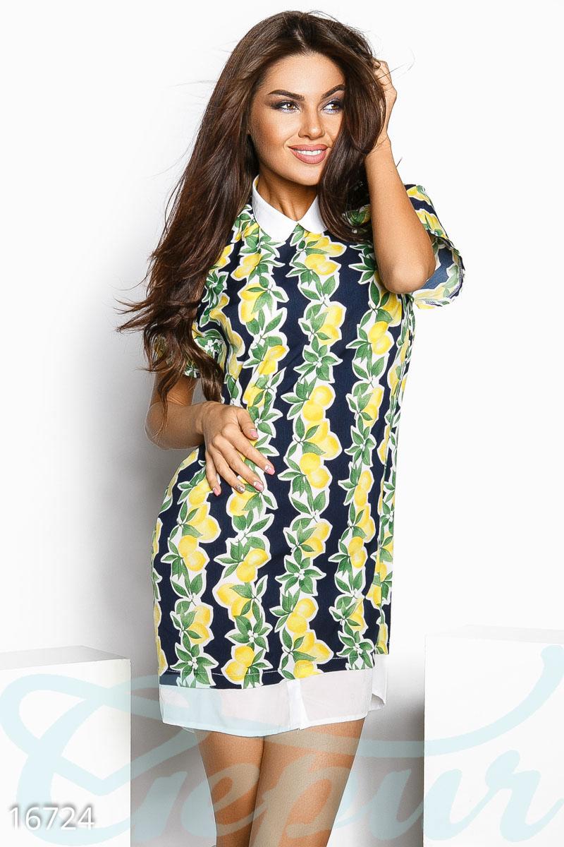 Яркое лимонное платье