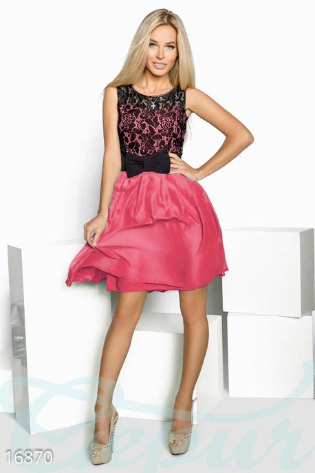 Шифоновое мини-платье GEPUR