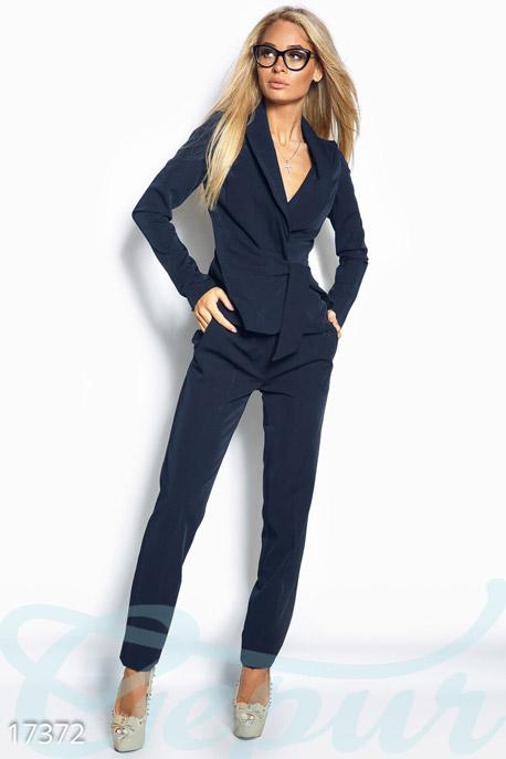 Купить Костюмы и комплекты / Низ брюки, Строгий брючный костюм, Костюм-17372, GEPUR, темно-синий