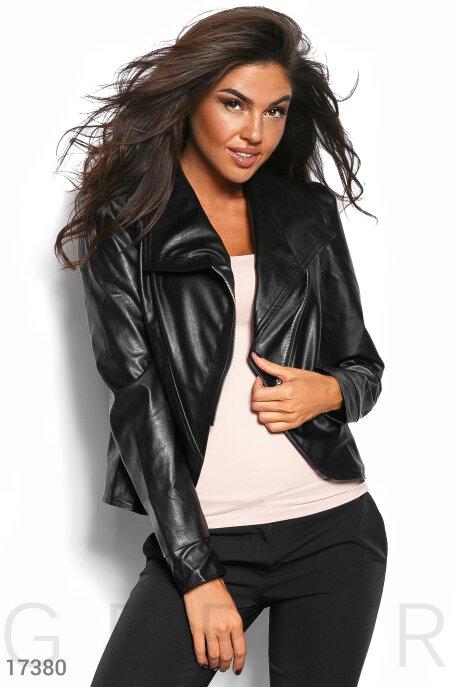 Купить Верхняя одежда / Кожаные куртки, Стильная куртка-косуха, Куртка-17380, GEPUR, черный