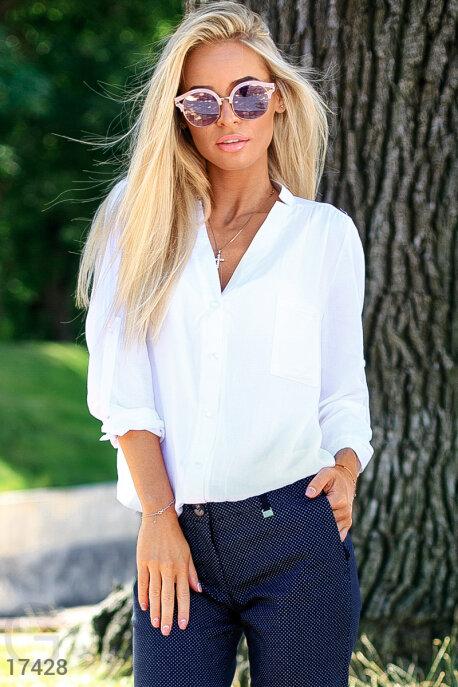 Купить Блузы, рубашки / Большие размеры, Оригинальная блуза-oversize, Блуза-17428, GEPUR, белый