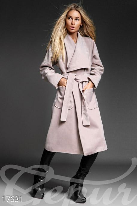 Женственное кашемировое пальто купить в интернет-магазине в Москве, цена 1874.12  Пальто-17631