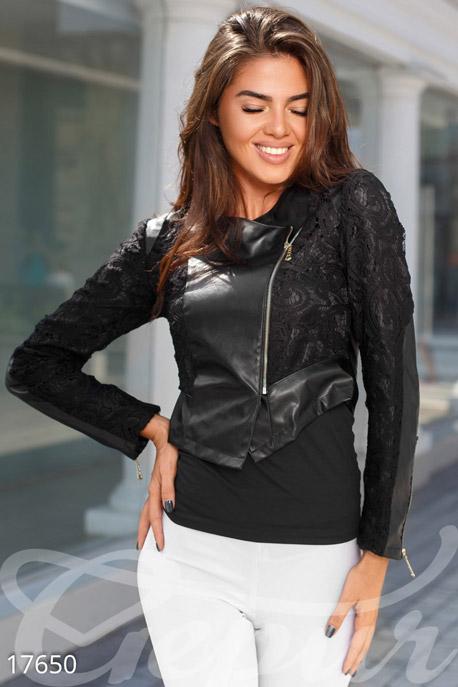 Купить Верхняя одежда / Кожаные куртки, Легкая куртка-косуха, Куртка-17650, GEPUR, черный