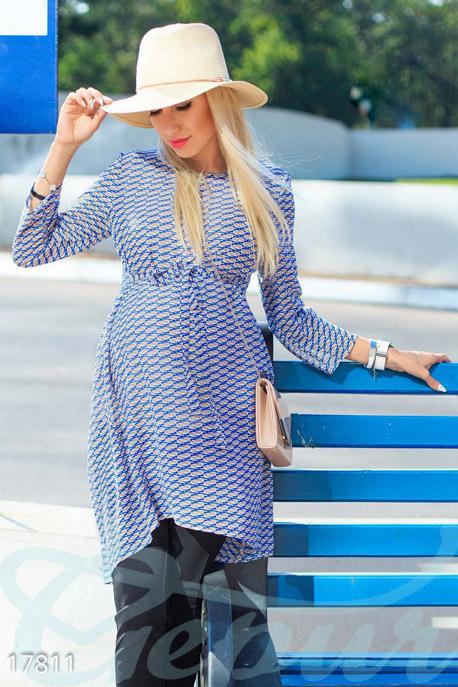 Купить Одежда для беременных / Блузы джемпера туники, Блуза для беременных, Блуза-17811, GEPUR, сине-бежевый