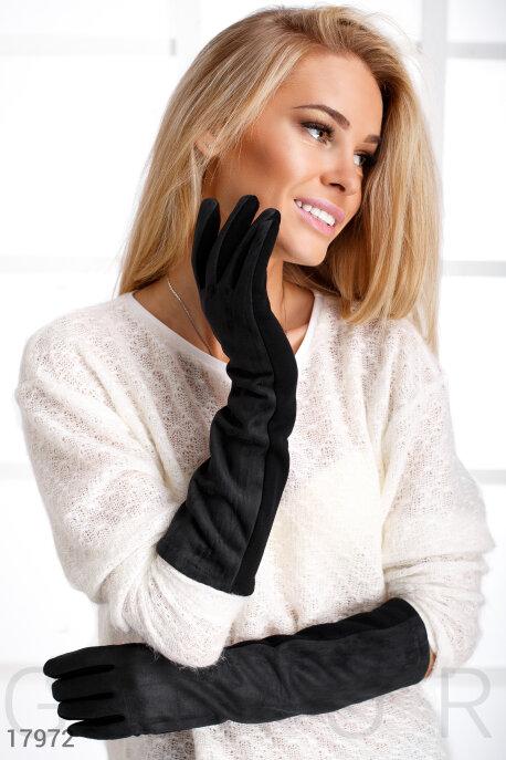 Купить Перчатки, шарфы, шапки / Перчатки, Длинные женские перчатки, Перчатки-17972, GEPUR, черный