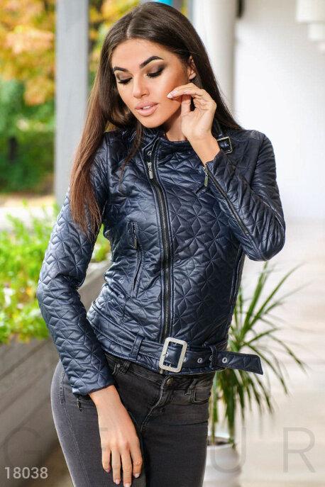 Купить Верхняя одежда / Кожаные куртки, Стеганая куртка-косуха, Куртка-18038, GEPUR, темно-синий