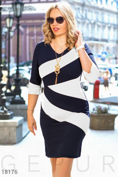Двухцветное деловое платье GEPUR