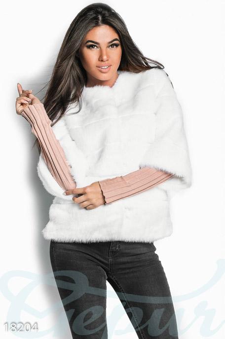 Купить Верхняя одежда / Шубы, Меховой жакет, Шуба-18204, GEPUR, белый