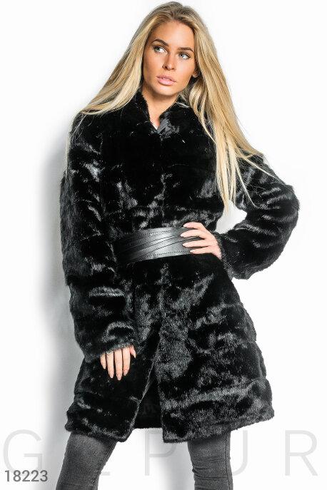 Купить Верхняя одежда / Шубы, Шуба с капюшоном, Шуба-18223, GEPUR, черный