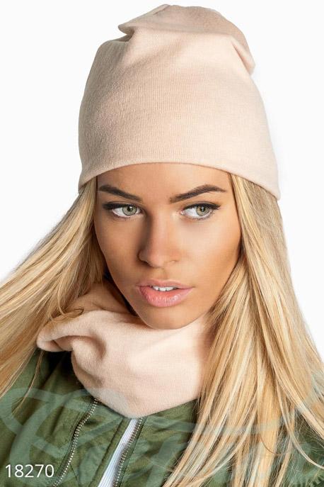 Купить Перчатки, шарфы, шапки / Комплекты, Комплект шапка снуд, Комплект-18270, GEPUR, белый