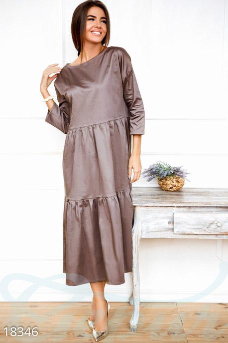 Купить Платья / Макси, Расклешенное платье оверсайз, Платье-18346, GEPUR, серый