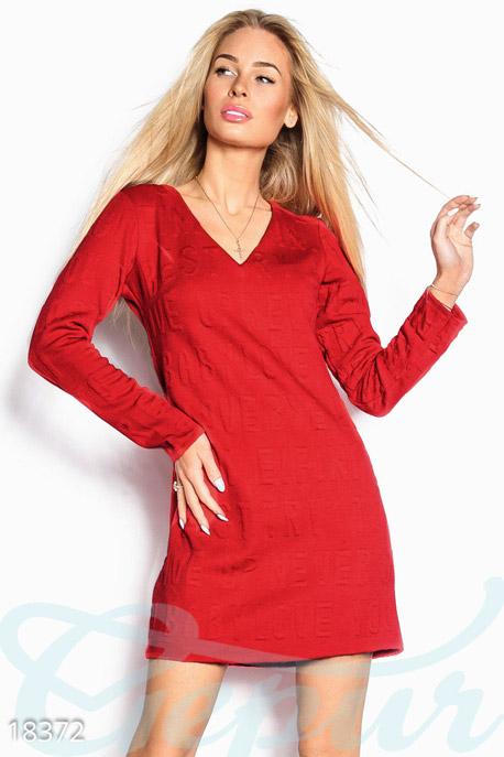 Ангоровое мини платье