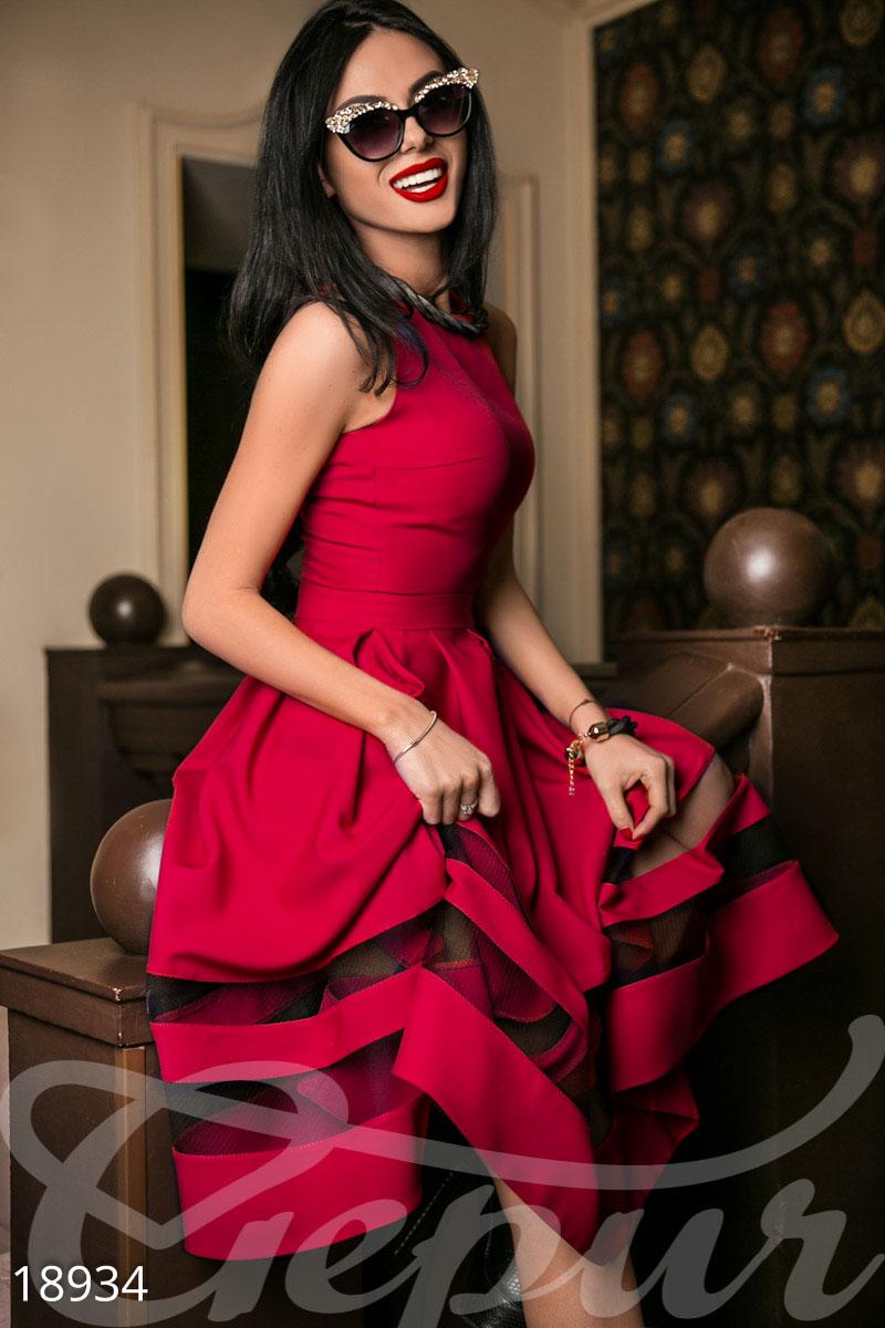 Платье габардин