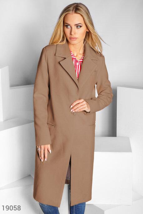 Однобортовое кашемировое пальто купить в интернет-магазине в Москве, цена 1571.54 |Пальто-19058