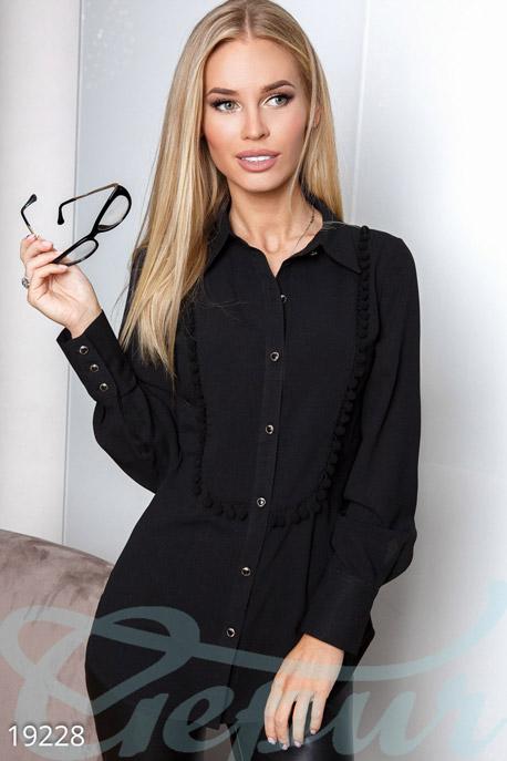 Купить Блузы, рубашки, Элегантная деловая блуза, Блуза-19228, GEPUR, черный