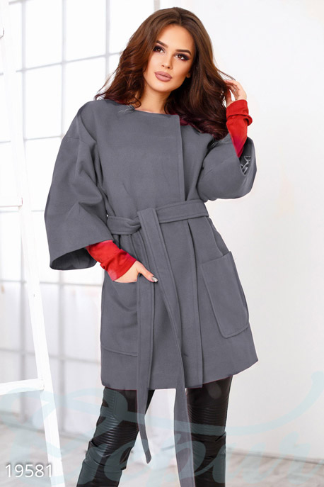Кашемировое пальто оверсайз купить в интернет-магазине в Москве, цена 1501.17 |Пальто-19581