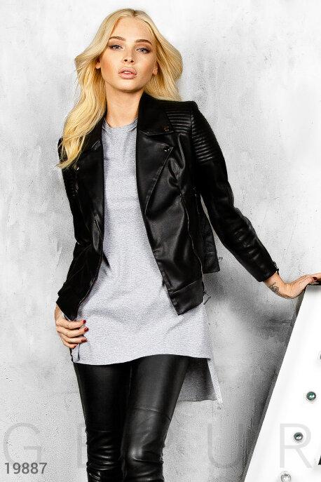 Верхняя одежда / Алёна Шишкова, Экокожаная куртка косуха, Куртка-19887, GEPUR, черный  - купить со скидкой