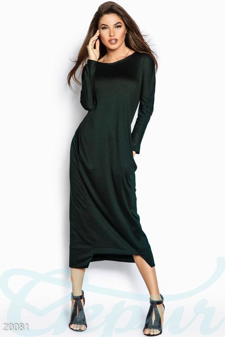 Купить Платья / Макси, Элегантное платье макси, Платье-20081, GEPUR, изумрудный
