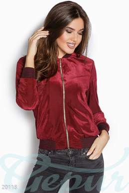 Stylish velvet bomber photo 1