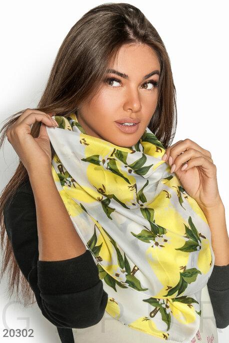 Купить Перчатки, шарфы, шапки / Шарфы, Легкий принтованный шарф, Шарф-20302, GEPUR, мультиколор