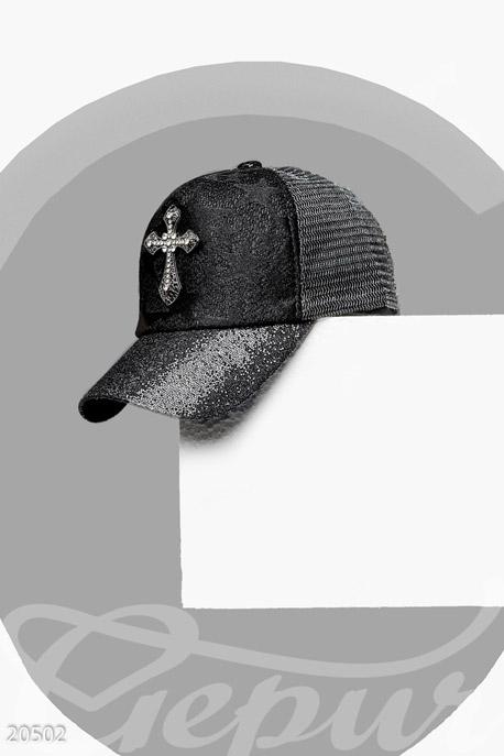 Купить Перчатки, шарфы, шапки / Кепки, Кепка с декором, Кепка-20502, GEPUR, черный
