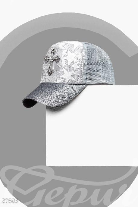 Купить Перчатки, шарфы, шапки / Кепки, Кепка с декором, Кепка-20503, GEPUR, серебристый